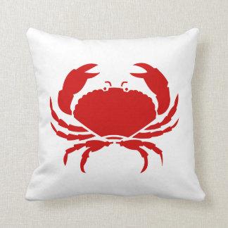Amortiguador rojo de la almohada del cangrejo