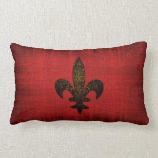 Amortiguador rojo medieval del terciopelo cojines