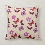 Amortiguador rojo púrpura rosado de la almohada de