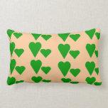 Amortiguador verde de la almohada del tema de los