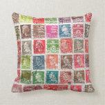 Amortiguador viejo de la colección de sello almohadas