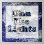 Amortigüe la imagen del texto de las luces poster