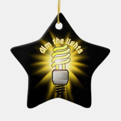 Amortigüe la luz ahorro de energía adorno de cerámica en forma de estrella