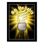 Amortigüe la luz ahorro de energía postal