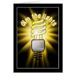 Amortigüe la luz ahorro de energía tarjetón
