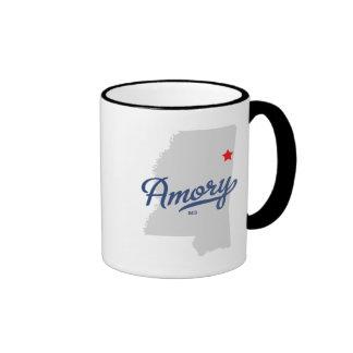 Amory Mississippi MS Shirt Mugs