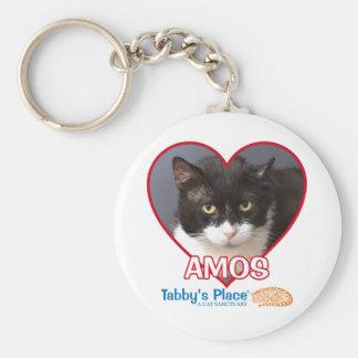 "Amos - 2.25"" Button Keychain"