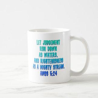 Amos 5:24 coffee mug