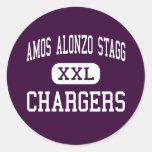 Amos Alonzo Stagg - cargadores - alto - colinas de Etiquetas