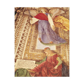 Amos and Angel holding pincers of the Passion Canvas Print