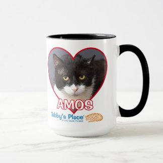 Amos - Black Accented 15oz Large Mug