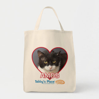 Amos - Cotton Grocery Tote Bag