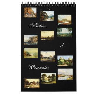 Amos de la acuarela - calendario 2015 del arte