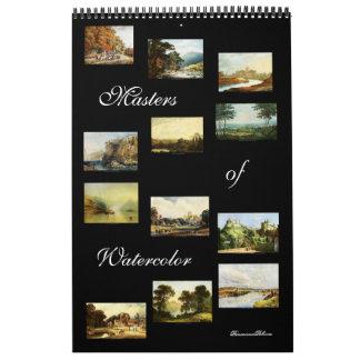 Amos del calendario 2015 del arte de la acuarela