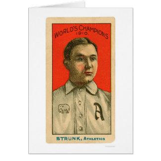 Amos Strunk Baseball 1910 Card