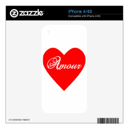 Amour Decals For iPhone 4