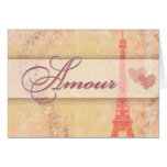 Amour in Paris Greeting Cards