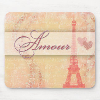 Amour in Paris Mouse Pad