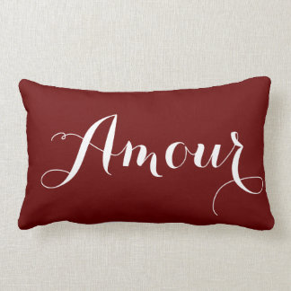 Amour in Red Lumbar Pillow