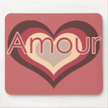 Amour Love for Valentines Day Mouse Pad