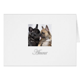 """Amour """"Love"""" French Bulldog Greeting Cards"""