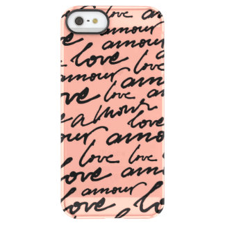 Amour Script Permafrost iPhone SE/5/5s Case