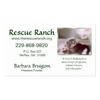 &amp ártico; bebés 2 frms, rancho del rescate, tarjetas de visita