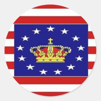 AMP Flag Classic Round Sticker