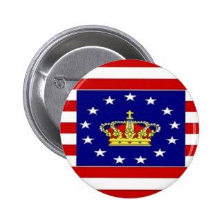 AMP Flag Pinback Button