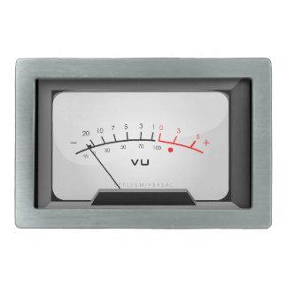 Amp meter rectangular belt buckle