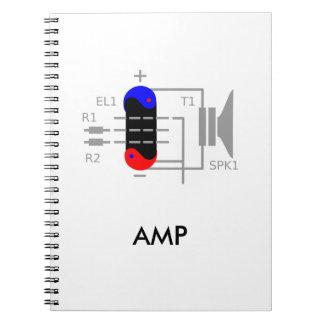 Amp Tube Spiral Notebook
