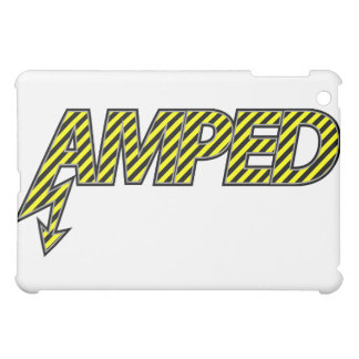 Amped iPad Case  (yellow & black stripes)