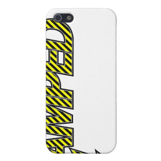 Amped iPhone Case (yellow & black stripes)