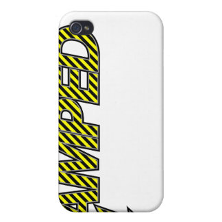 Amped iPhone Case (yellow & black stripes) Case For iPhone 4