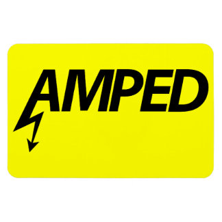 Amped Magnet (black on yellow)
