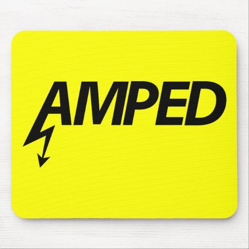 Amped Mousepad (negro en amarillo) Tapetes De Ratón