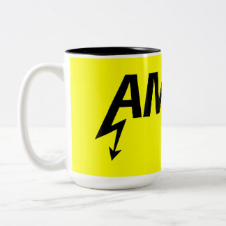 Amped Mug (black on yellow)