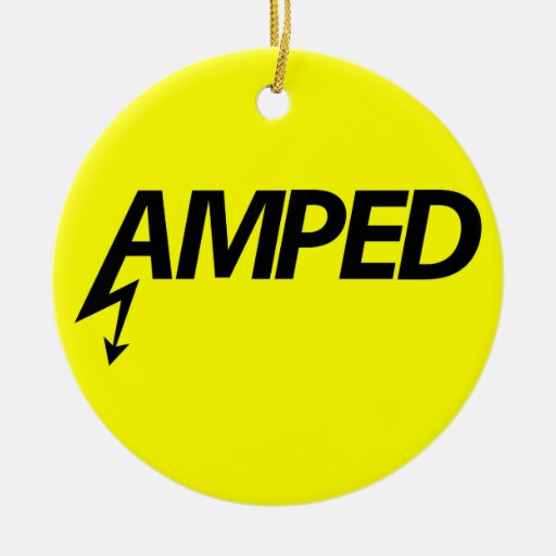Amped Ornament (black on yellow)