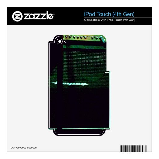 Amped para arriba iPod touch 4G skin