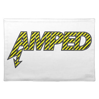 Amped Placemat (yellow & black stripes)