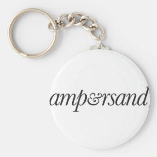 Ampersand Basic Round Button Keychain