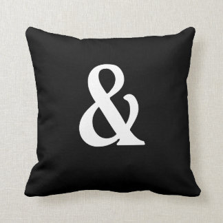 Ampersand Black and White American MoJo Pillows