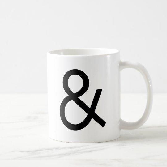 Ampersand - Black Coffee Mug