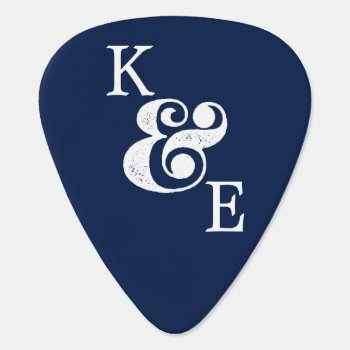 Ampersand Custom Initials Couples Photo Guitar Pick by INAVstudio at Zazzle