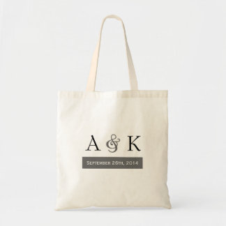 Ampersand Elegance: Gray Wedding Welcome Tote
