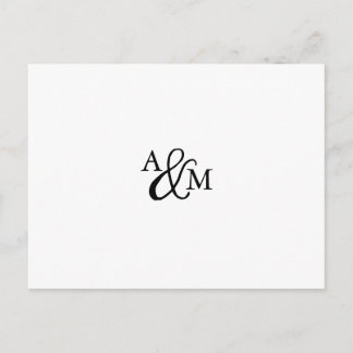 Ampersand Monogram RSVP Postcard with Meal Choice