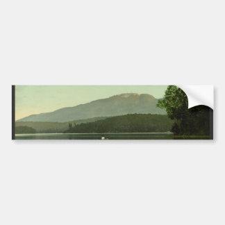Ampersand Mountain at Round Lake (Middle Saranac) Bumper Sticker