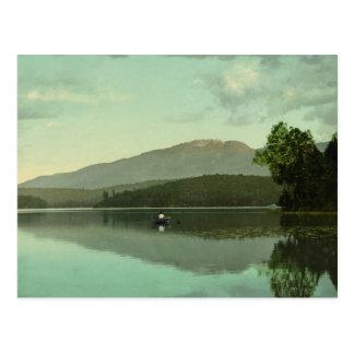 Ampersand Mountain at Round Lake (Middle Saranac) Postcard