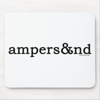 Ampersand Mousepads