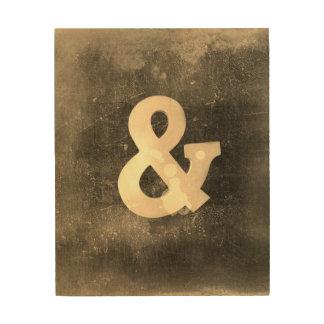 Ampersand Wall Art ampersand wood wall art | zazzle